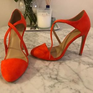 Orange Suede Like - Zara Basic Stilettos - Size 38